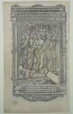 JUDAS KUSS STUNDENBUCH PERGAMENT METALLSCHNITT PARIS 1500 BOOK OF HOURS KISS J36