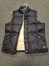 ABERCROMBIE & FITCH Full Zip & Snap Puffer Vest Jacket Brown- Men's. XL.