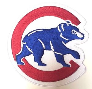 "Chicago Cubs Walking Cubbie Bear Jersey Patch 4.0"" Iron on"