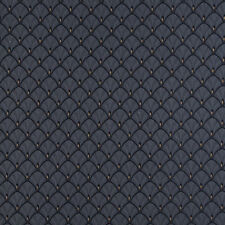 D308 Navy Blue And Gold Fan Woven Jacquard Upholstery Fabric By The Yard