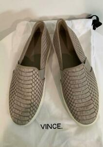 VINCE Light Taupe Faux Leather Python Pattern Walking Flat Shoes US 6.5 EU 36.5