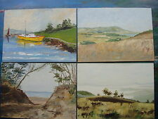 Set Of 4 Oil Paintings