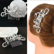 New Fashion Delicate Bride Wedding Crystal Butterfly Hair Clip Comb Pin Diamante