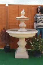 STONE GARDEN LARGE BOWLED REGIS OUTDOOR WATER FOUNTAIN FEATURE SANDSTONE