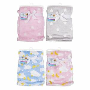 New Baby Boy Girl Soft Fleece Blanket Warm Newborn Pram Crib Moses Basket Unisex