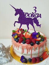 Personalised Birthday Cake Topper Decoration. ANY NAMES. AGES