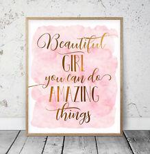 Beautiful Girl You Can Do Amazing Things, Nursery Room Printable Wall Art