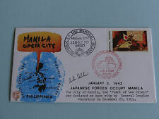 WWII FDC #32 Japan Philippines US MacArthur 1941 * Occupy Manila * 50th Anniv