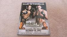 UFC 77 OFFICIAL PROGRAM Anderson Silva Rich Franklin MMA nhb