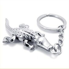 High quality Cool Crocodile Silver keychain keyring key chain Ring key Fob