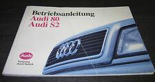 Betriebsanleitung Handbuch Audi 80 S2 B4 230 PS Typ 8C Quattro 5 Zylinder 1993