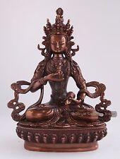 "8.5"" Vajrasattva Statue Made from Plastic Paste Oxidized Finish in Patan, Nepal"