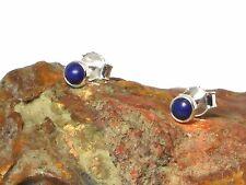 Round LAPIS  Sterling  Silver  925  Gemstone  Stud Earrings  -  4 mm