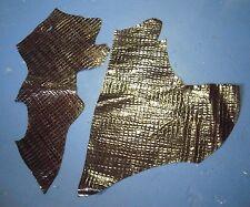 Lot of 2 Non-Branded Dark Brown Leather Hides Skins Scraps