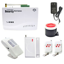 GSM Wireless Wired Voice Home Alarm Security System Auto-Dial Infrared Magnetic