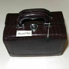 b4988d4228 Faux Leather Brown Makeup Bags   Cases