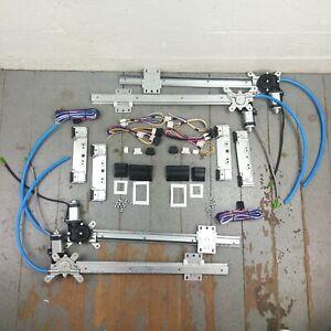 49-57 Hudson Power Window Kit 3 switches flat glass vintage style worm gear
