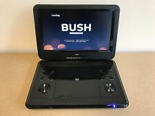 """BUSH 12"""" INCH BLACK PORTABLE DVD PLAYER SWIVEL SCREEN WITH USB MOVIES SD CARD"""