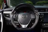 MIT Toyota Corolla iM 2014-2018 Carbon Fiber look leather steering wheel-SPORTS