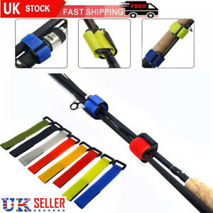 5/10/15 Reusable Fishing Rod Tie Holder Strap Fastener Ties Fishing Supply Tools