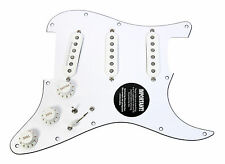 920D Custom Loaded Strat Pickguard Duncan Fender SSL-5, '69, Fat 50's WH/WH