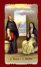 SANTINO SANTAMONICA e SAN AGOSTINO   IMAGE PIEUSE - HOLY CARD-  Heiligenbild