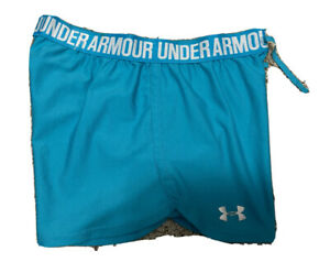 UNDER ARMOUR Heat Gear Running Shorts Womens Size SMALL Loose Fit Turquoise