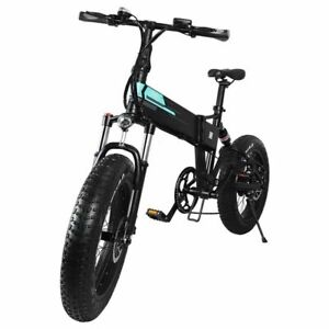 "Electric Folding Bike Fat Bike 20"" High Power 36v 250w 7 speed 4"" tyre NEW CE"
