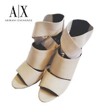 ff59c885d754 Armani Exchange Leather Ankle Boots in Stone - Size 10