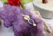 Handmade Blue Lab-Created/Cultured Fine Jewellery