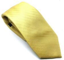 "New & Lingwood Men's Tie Yellow Gold Striped 100% Silk 3.25"" Width 62"" Length"