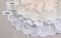 """1yds Broderie Anglaise gathered eyelet lace trim 3""""(7.5cm)  YH1464a laceking2013"""
