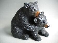 Bärenskulptur Braunbär Schwarzbär Bär original Kanada Handarbeit EDMUND WOLF JR.