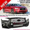 For 14-19 Infiniti Q50 | Red Sport Style Front Bumper Grille Foglight Covers Kit