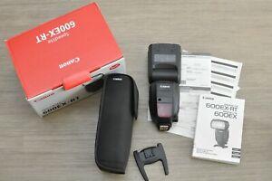 Canon Speedlite 600EX-RT Shoe Mount Flash - Original in Box Low Use