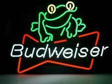 """New Budweiser Beer Frog Bar Party Light Lamp Wall Decor Neon Sign 17""""x14"""""""