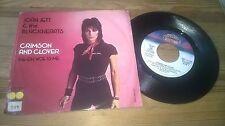 "7"" Rock Joan Jett - Crimson And Clover (2 Song) BOARDWALK / US RUNAWAYS"