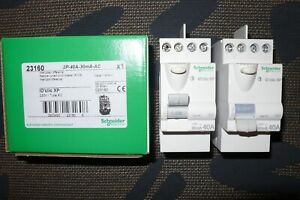 INTERRUPTEUR DIFFERENTIEL 40A 30mA TYPE AC, 23160 SCHNEIDER ELECTRIC 40 AMPERES