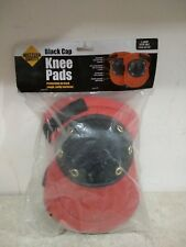Western Safety Black Cap Knee Pads w/Foam Padding (1 size fits all) Red/Black