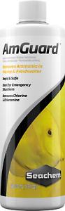 Seachem 500ml LIQUID AMGUARD Removes Toxic Free Ammonia (New Stock)