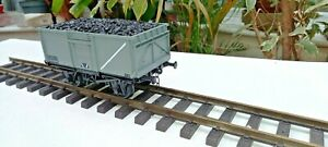 Accucraft , Gauge 1, RR101-0183 16-Ton Steel Mineral Wagon #B60544 - BR Grey.