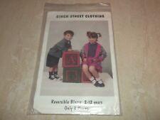Birch Street Clothing Child's Reversible Blazer Jacket Pattern Size 2-12 Easy!
