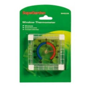 Window Thermometer SupaGarden Great For Greenhouses & Conservatories NEW