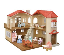 Sylvanian Families BIG HOUSE WITH RED ROOF DELUX SET Japan Calico Critters