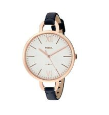 Fossil Women's Watch Wristwatch ES4355 Rose Gold Blue Leather