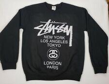 Stussy World Tour New York L.A. Tokyo London Paris Spellout Pullover Sweatshirt