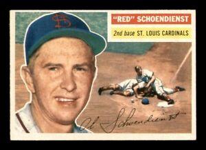 1956 Topps Set Break #165 Red Schoendienst NM *OBGcards*