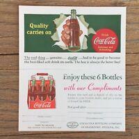 Original COCA COLA COKE Coupon Postcard 1940s You trust- Quality carries on NOS