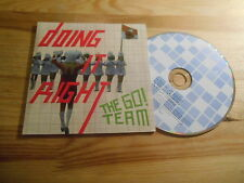 CD Pop Go! Team - Doing It Right (3 Song) Promo MEMPHIS INDUSTRIES COOP cb
