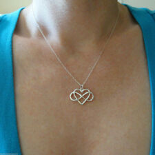 925 Sterling Silver Infinity Love Necklace Open Heart Pendant Jewelry Love Gifts